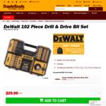 Dewalt 102 Piece Drill & Drive Bit Set $29.90 + Shipping @ Tradestools