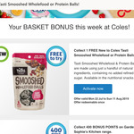 Free - Tasti Smooshed Wholefood or Protein Balls @ Coles (Flybuys Members)