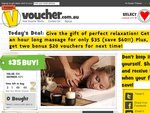 [VIC] 1 Hour long massage for only $35 (save $60!!) + get two bonus $20 vouchers for next time!