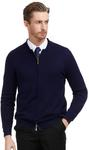 Men's Long Sleeve Shirt $12.49 (AU $18.37), Men Slim Zipper Knitting Baseball Coat $14.99 (AU $22.03) Delivered @ Pjpauljones