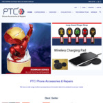 Marvel Licensed Mobile Phone Fast Charging Sync Lightning or USB-C Cable - Free with Purchase @ PTC