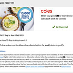 10,000 Flybuys Pts or $50 off with $XX Spend Per Week for 4 Weeks @ Coles