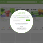 Groupon 15% Triple Cashback @ Cashrewards (Stacks with 10% off Sitewide - amaysim $8.95 @ Groupon)