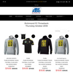 Richmond Tigers FC AFL Merch - Mens Polo, Womens Hoodies $19.95 (Save 75%) $15 Shipping or $0 Collection Perth @ Jim Kidd Sports