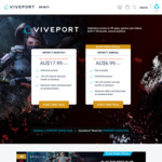 Viveport Infinity Annual Subscription AU $83.88 (Normally $143.88)