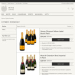 Veuve Clicquot 6 Pack for $341.40 ($56.90/Bottle) Free Delivery (Next Day in Sydney) @ Wine