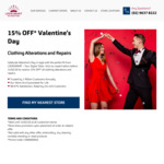 15% off All Clothing Alterations and Repairs (Valentine's Day Special Offer) @ Looksmart Alternations