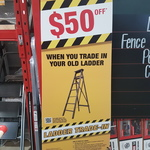 $50off Selected Industrial Gorilla Ladders ($199or above) When Trading in an Old Ladder @ Bunnings
