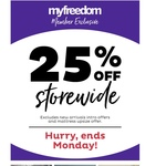 25% off Storewide @ Freedom (Free Membership Required)