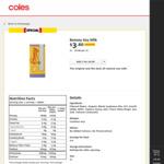 Bonsoy Organic Soy Milk 1L $3.80 (Save $1.00) @ Coles