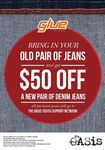 Glue Store Get $50 Off A Pair of Jeans By Trading In!