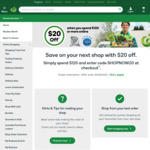 $20 off a Single $120+ Spend Online @ Woolworths