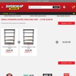 SCA 5 Shelf Unit Powder Coated 350kg - 2 for $149.98 @ Supercheap Auto
