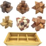 6-in-One 3D Wooden Brain Puzzle $25.92 + Delivery ($0 with Prime / $39 Spend) @ BuZhang-AU via Amazon AU