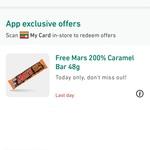 Free Mars 200% Caramel 48g Bar @ My 7-Eleven App