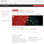 Autodesk Offer - Get 4 Autocad LT Subscriptions for The Price of 3 (25% off) - $1,860/Year or $5,025/3 Year