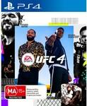 [PS4, XB1] UFC 4 $44 + $3.90 Delivery ($0 C&C) @ BIG W