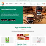 7-Eleven App-Exclusive Offers: $2 Traveller Pizza, $3 Cake & Coffee, $3 Muffin & Coffee, $2 Hot Bites + More