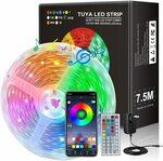 JORAGO 7.5m TUYA Smart LED Strips (SAA Certified) $16.99 (Was $22.94) + Delivery ($0 with Prime/$39 Spend) @ Jorago Amazon AU