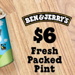 [NSW,QLD,VIC,WA] Ben & Jerry's Fresh Packed Pint $5.40 (Was $12.99) @ Ben & Jerry's Scoop Shops via Groupon