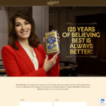 Win one of 50 Whittakers Creamy Milk Chocolate Bars (125th anniversary special)