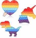 [Prime] Push Pop Fidget Toy 3 Pack (Rainbow Unicorn+Dinosaur+Heart) $7.93 Delivered @ Bugless via Amazon AU