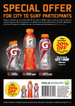 20% off Gatorade at Woolworths