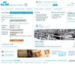 KLM Return To Amsterdam from AU $1,383* Return, Including Tax