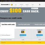 $100 Cashback on New Commonwealth Bank Credit Cards