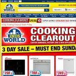 3 Day Cooking Sale - 90cm S/S Rangehood $199 (New),  50cm EW50 Upright $429 & More - 2nds World