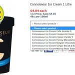 Connoisseur Ice Cream 1L - 50% off - $4.84 - Woolworths