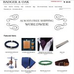 30% off on Mens Accessories, Free Shipping @ Badger & Oak