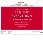 Further 25% off Everything @ Country Road & Trenery Online Outlet