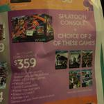 Wii U Console with Splatoon + 2 Games for $359 at Target