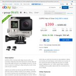 GoPro Hero 4 Silver $319.20 Delivered Dick Smith eBay 20% off Code - CTWENTY- Only 500 in Stock