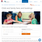 Children to 15yrs Pay $1 for Travel Anywhere on NSW Regional Network with Full Fare Adult
