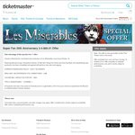 Les Misérables - 2 Tickets for $60.01 (Excludes Saturday Night) - Sydney
