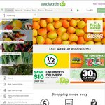 $10 off $100 Spend @ Woolworths Online (Starts Monday 19th October Ends Midnight Sunday 25th)