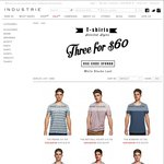 Buy 3 Selected Tees for $60 + $9.95 Delivery or Click/Collect @ Industrie