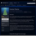 PS4 Festive Theme Free for PS+ Subscribers