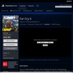 Far Cry 4 PS4 $24.95 AU PSN