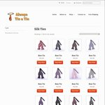 Set of 7 x Silk Ties for $52 (150+ Designs) with Free Shipping @ Always Tie A Tie