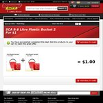2x 9.6 Litre Buckets for $1 (Multi-Colours) @ Supercheap Auto