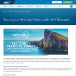 ANZ Rewards up to 35% Bonus Velocity Points in May