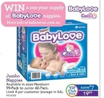Babylove Jumbo Box Nappies - $19.99 (Save $7) @ Toys 'R' Us (VIP Membership Req. Free to Join)