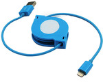 Target Retractable MFi Lightning Cable Blue $10 (down from $20)