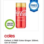 Free Sample of Coke Ginger (250mL Can) @ Coles (Flybuys Members)