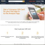 FREE $5 USD (~ $6.50 AUD) Amazon Gift Card with First Time App Sign in (No Prime Required) - from 21/11 7pm AEDT