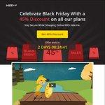 Hide.me Logless VPN Black Friday Get 45% off, USD $35.76 (~AUD $48.11) for 12 Months