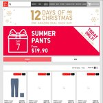 Uniqlo 12 Days of Xmas, Day 7 (7/12) - Women Legging Pants $19.90 Men Tapered Jeans $29.90